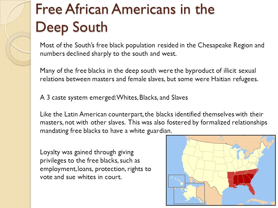 Free African Americans in the Deep South