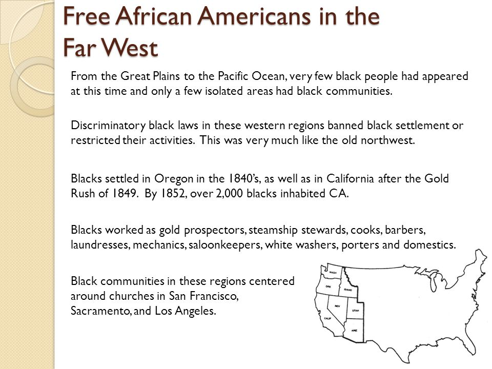 Free African Americans in the Far West