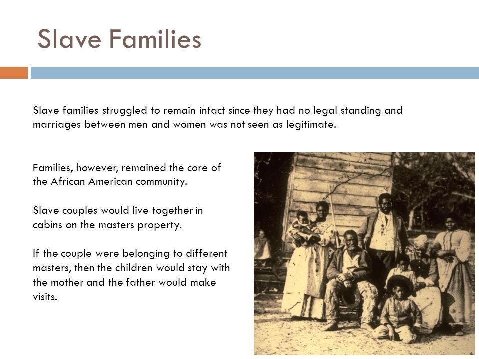 Slave Families