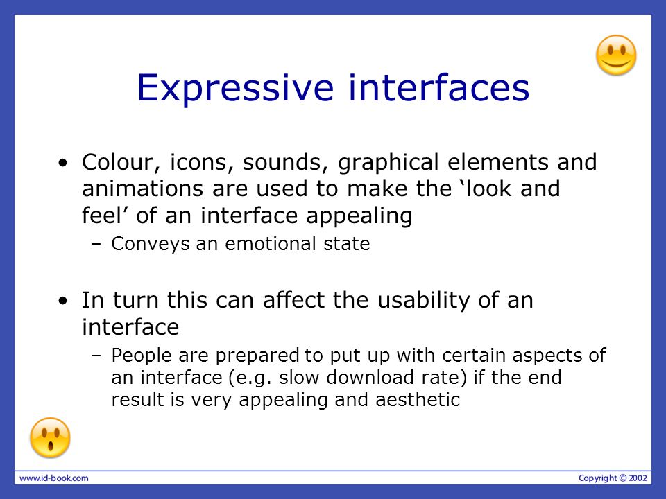 Expressive interfaces