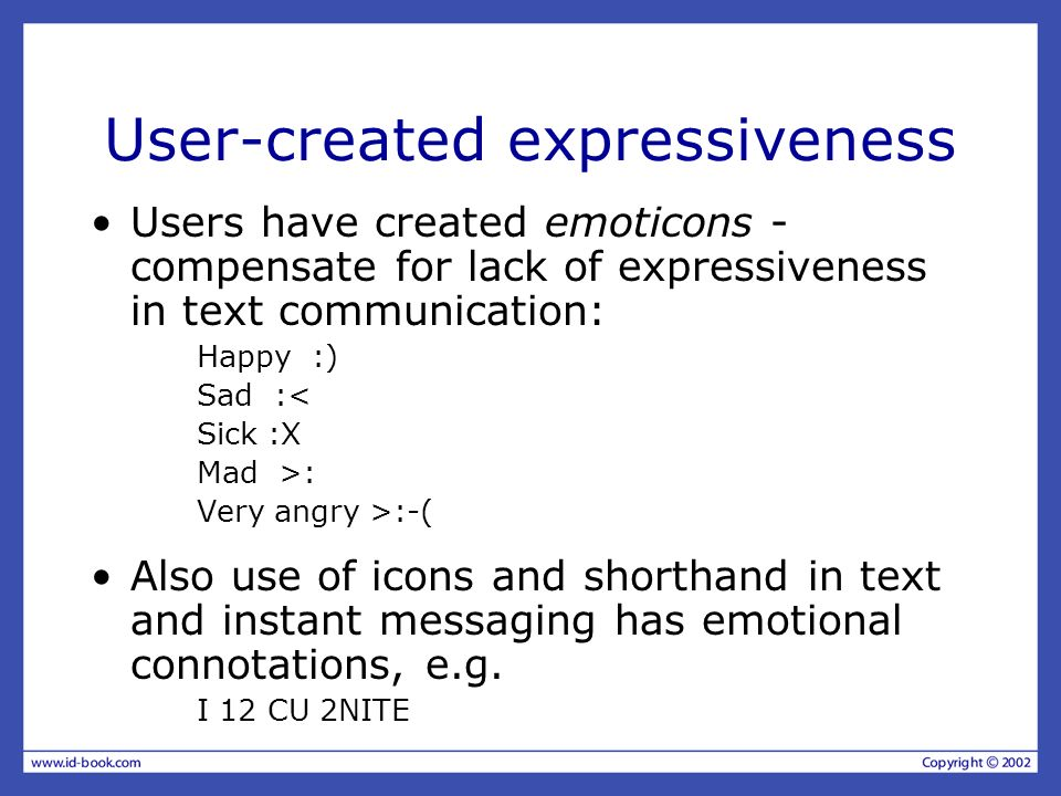 User-created expressiveness