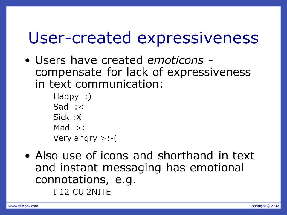User-created expressiveness