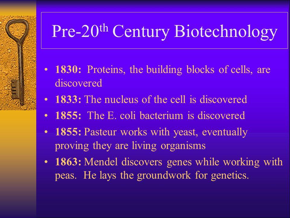 Pre-20th Century Biotechnology