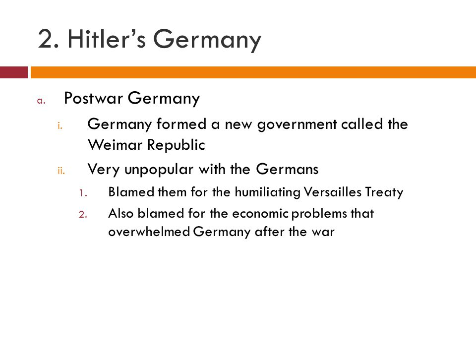 2. Hitler's Germany Postwar Germany