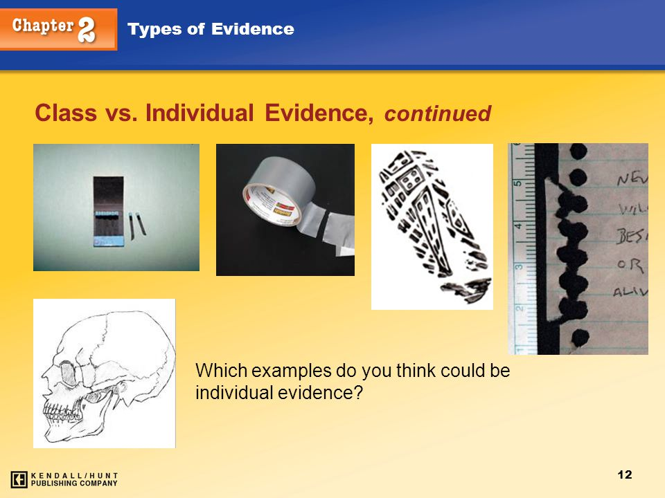 Class vs. Individual Evidence, continued