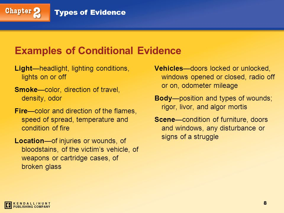 Examples of Conditional Evidence
