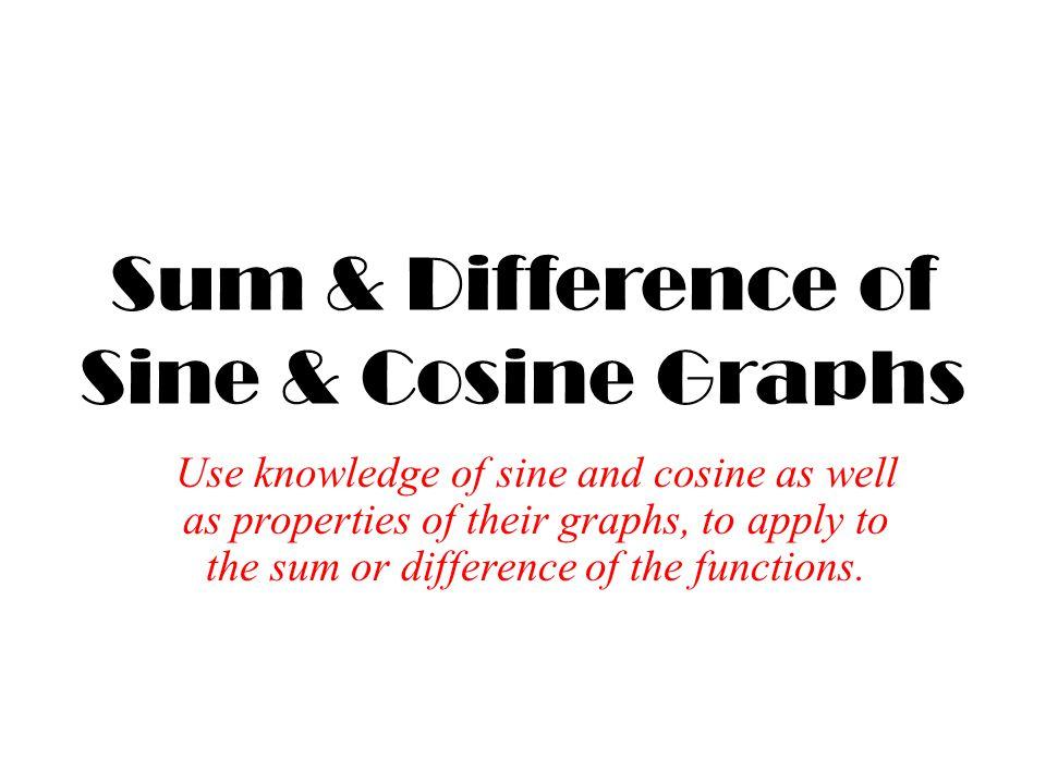 Sum & Difference of Sine & Cosine Graphs