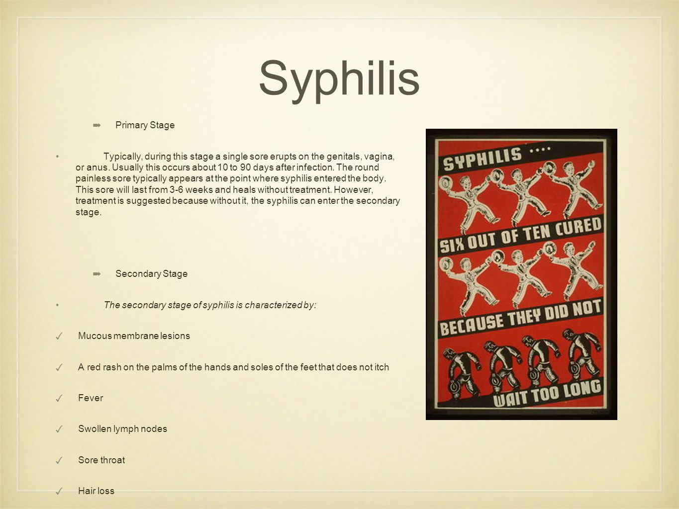 Syphilis Primary Stage
