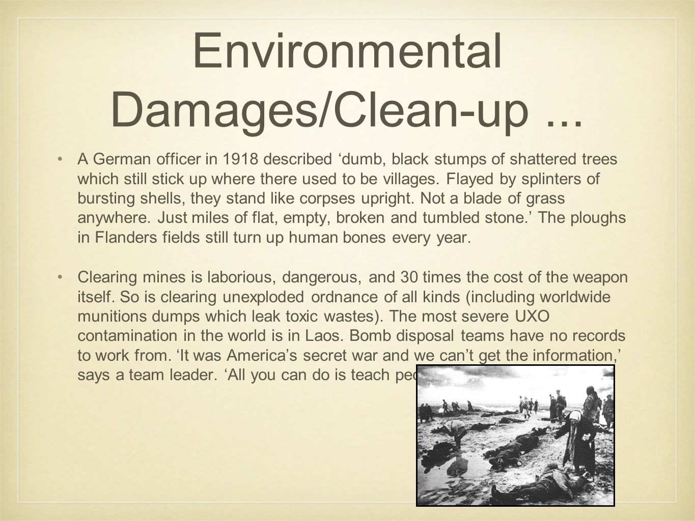 Environmental Damages/Clean-up ...
