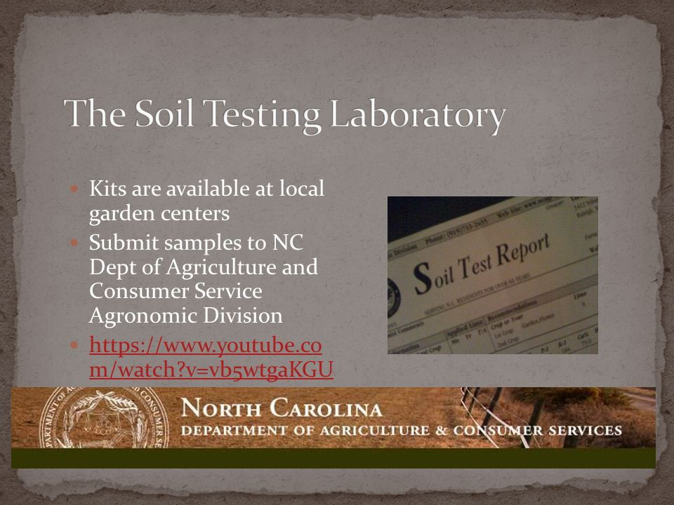 The Soil Testing Laboratory