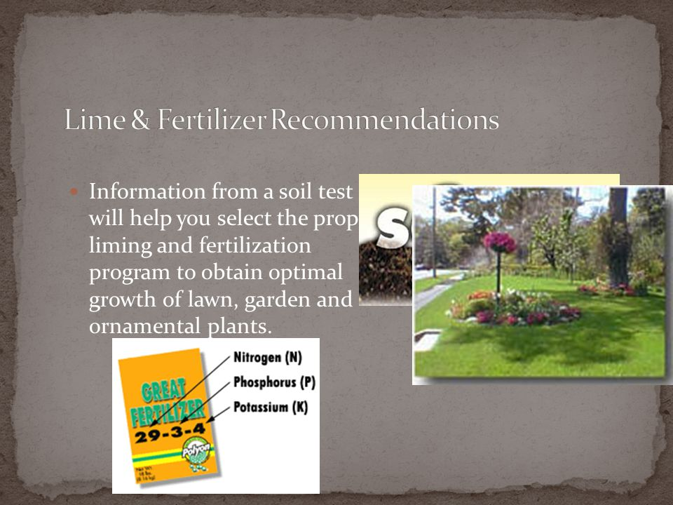 Lime & Fertilizer Recommendations