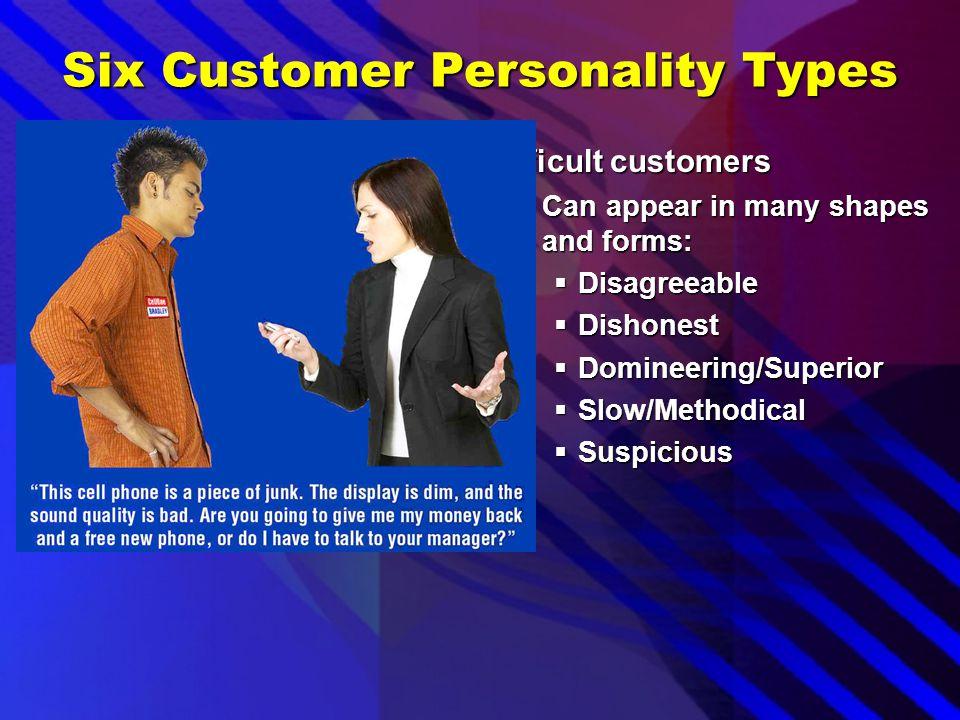 Six Customer Personality Types