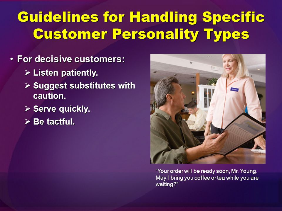 Guidelines for Handling Specific Customer Personality Types