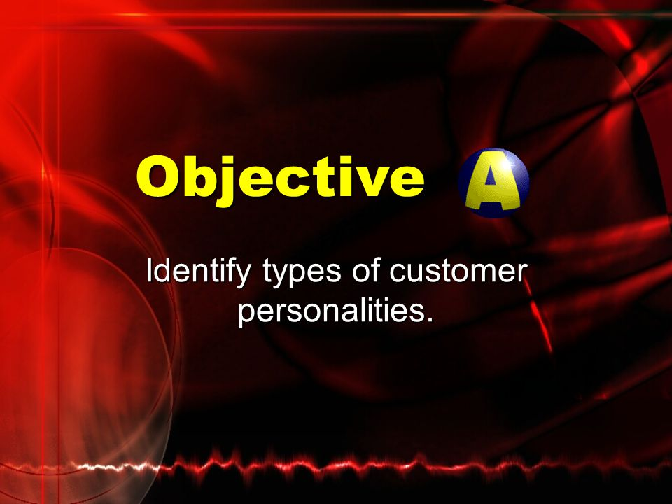 Identify types of customer personalities.