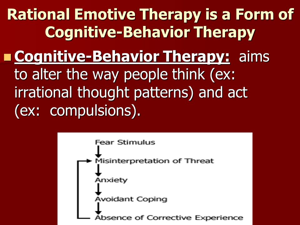 Rational Emotive Therapy is a Form of Cognitive-Behavior Therapy