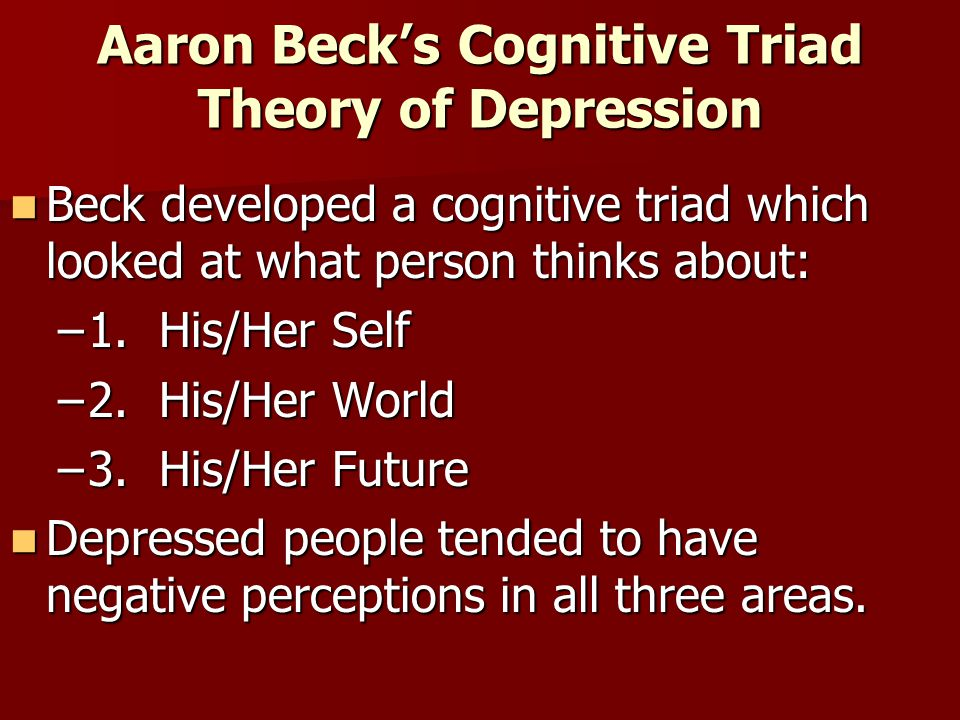 Aaron Beck's Cognitive Triad Theory of Depression