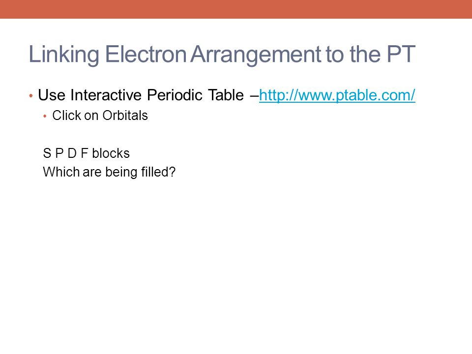 Linking Electron Arrangement to the PT