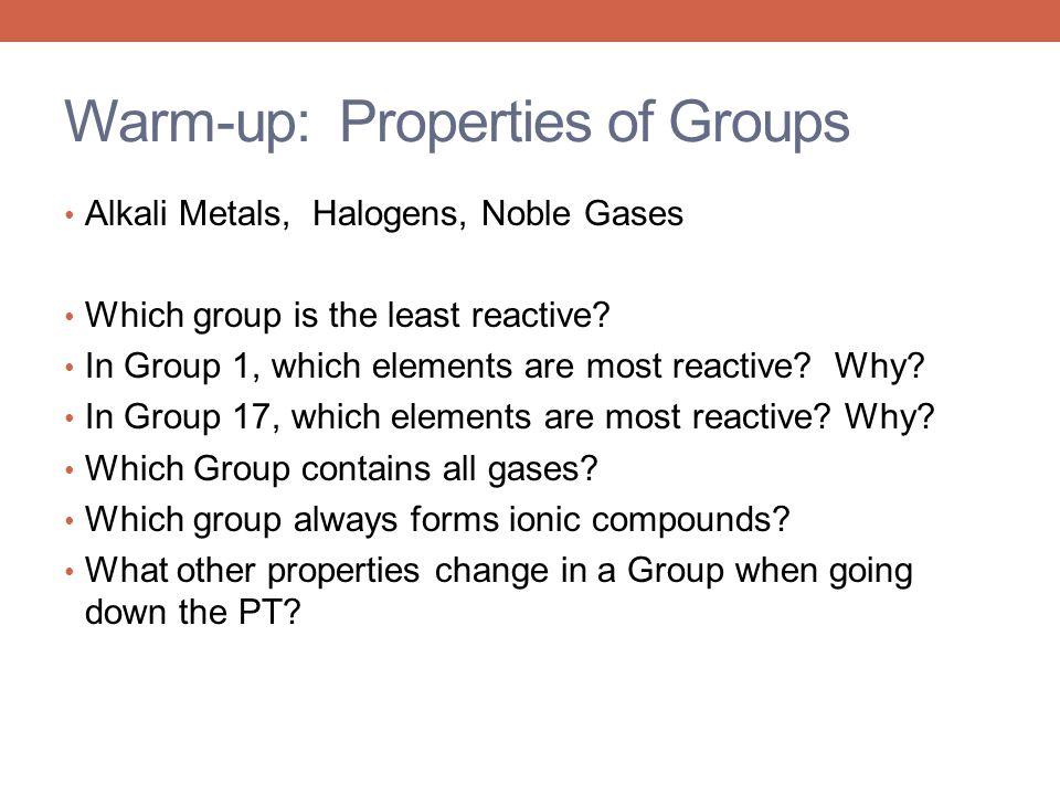 Warm-up: Properties of Groups