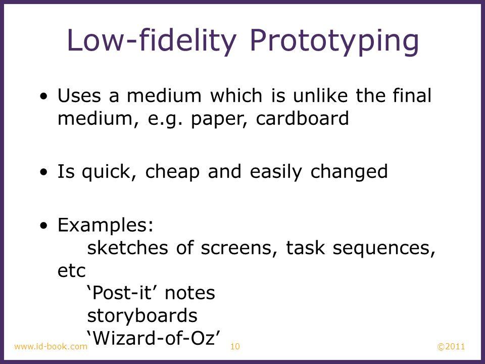 Low-fidelity Prototyping