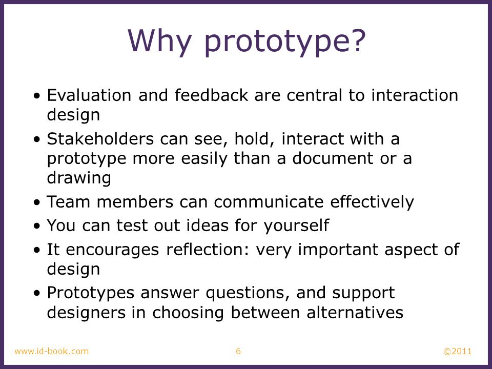 Why prototype Evaluation and feedback are central to interaction design.