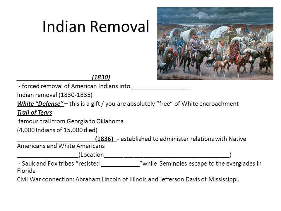 Indian Removal _______________________(1830)