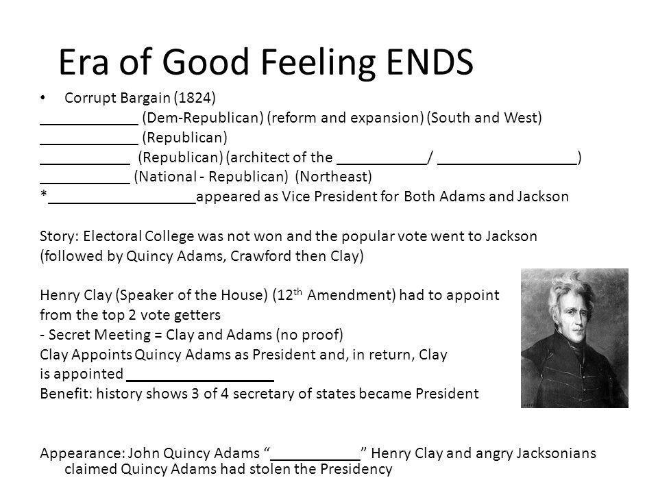 Era of Good Feeling ENDS