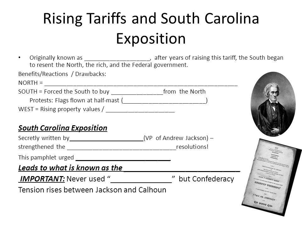 Rising Tariffs and South Carolina Exposition