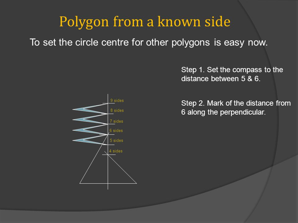 Polygon from a known side