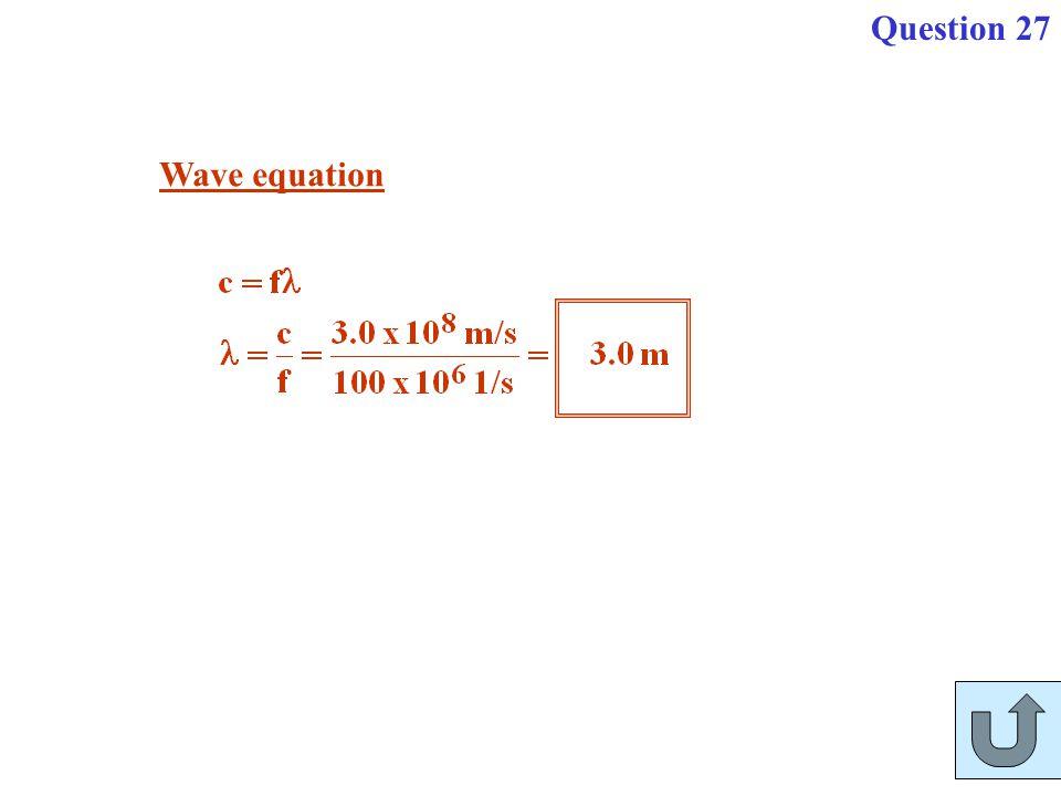Question 27 Wave equation