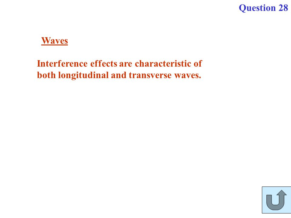 Question 28 Waves.
