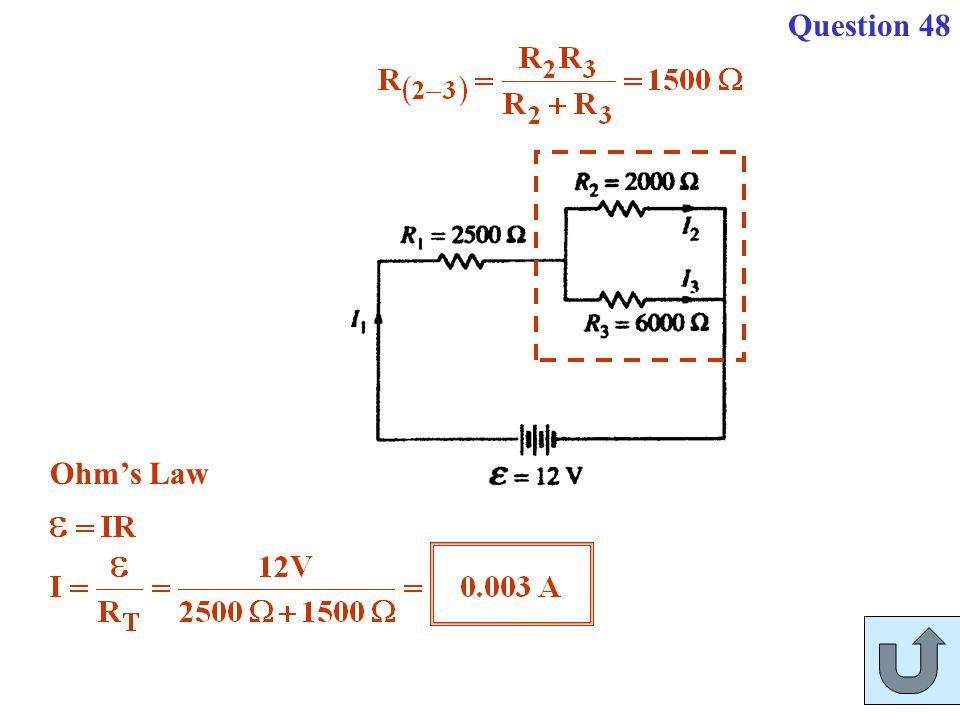 Question 48 Ohm's Law