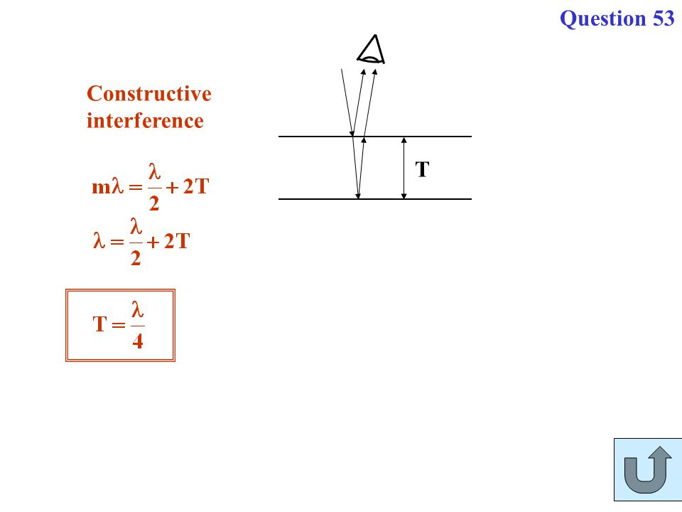 Question 53 Constructive interference T