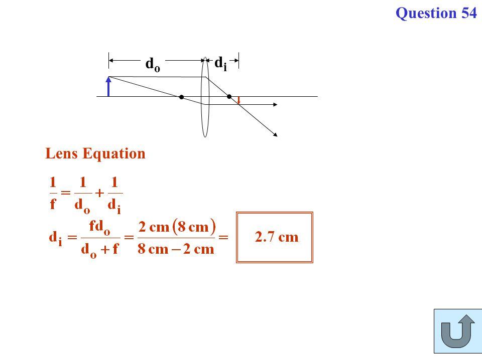 Question 54 do di Lens Equation