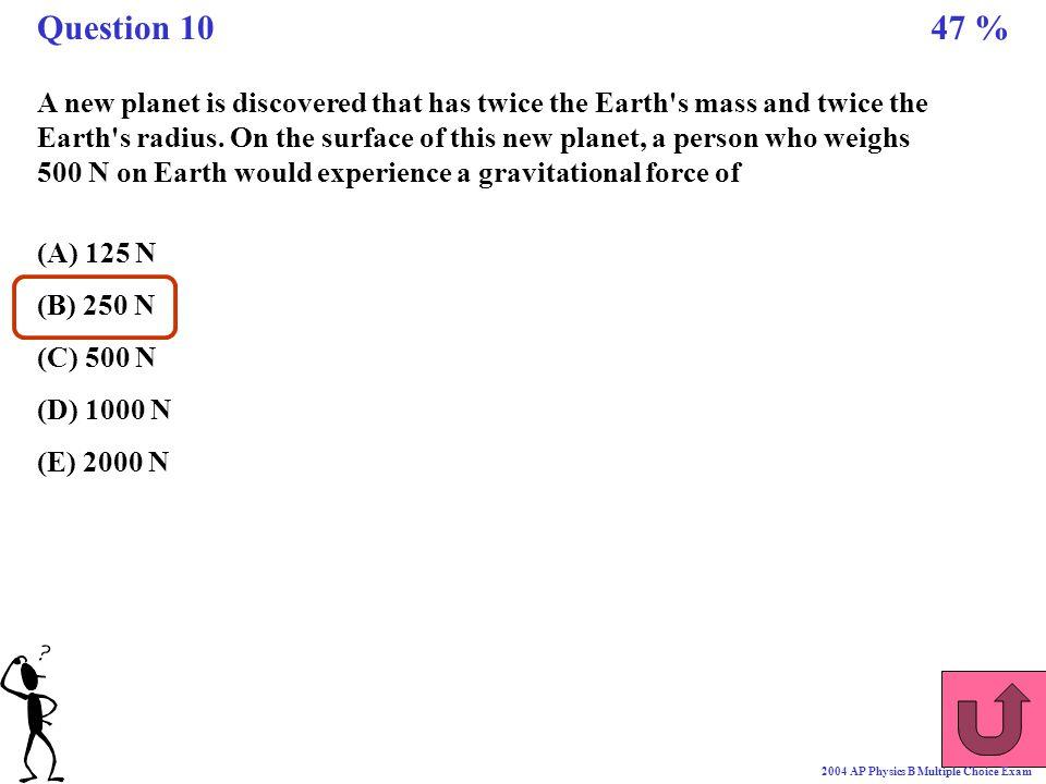 Question 10 47 %