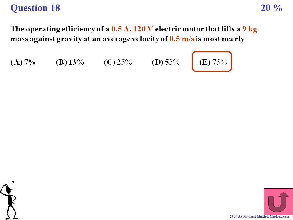 Question 18 20 %
