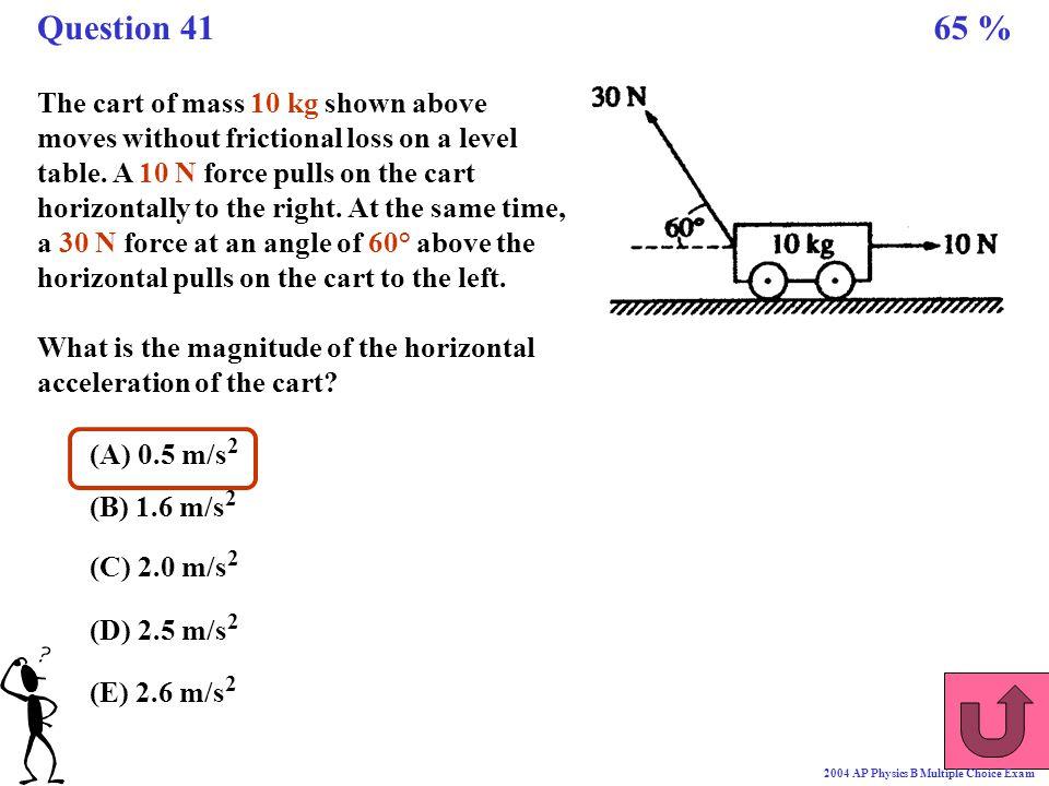 Question 41 65 %