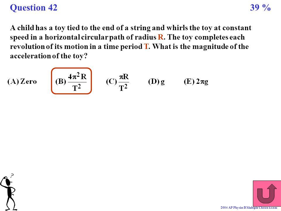 Question 42 39 %