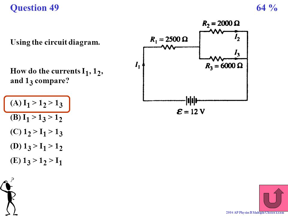 Question 49 64 % Using the circuit diagram.