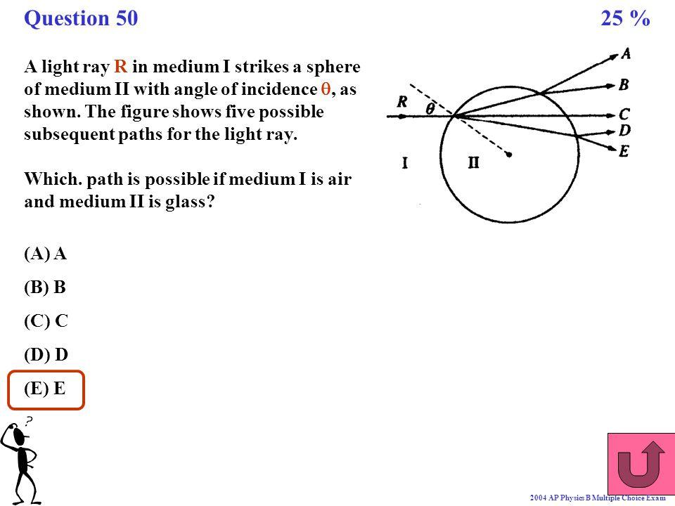 Question 50 25 %