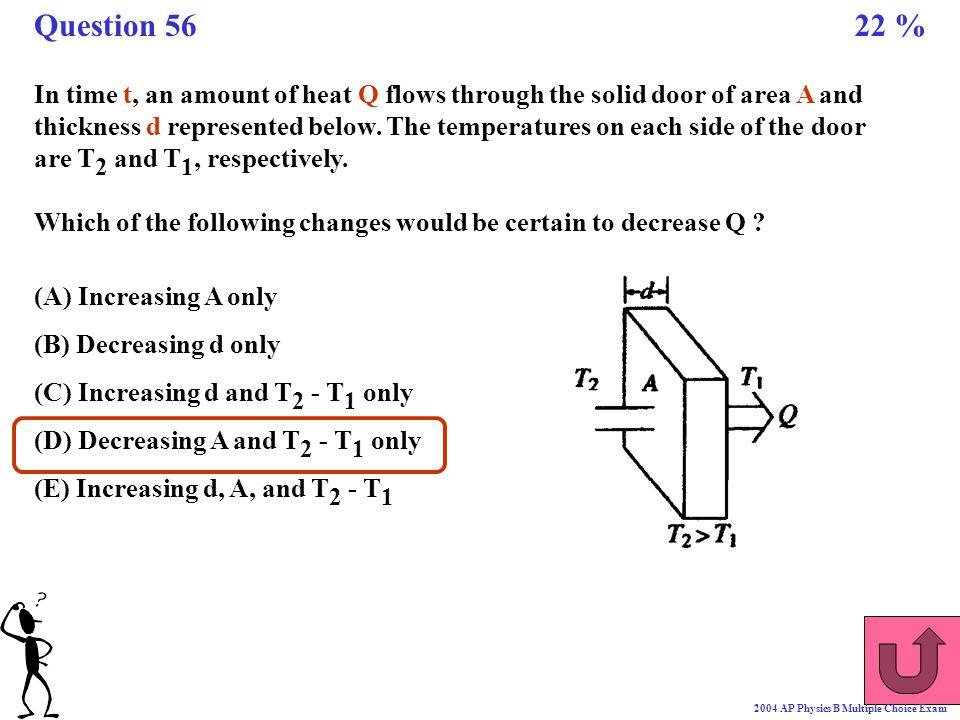 Question 56 22 %