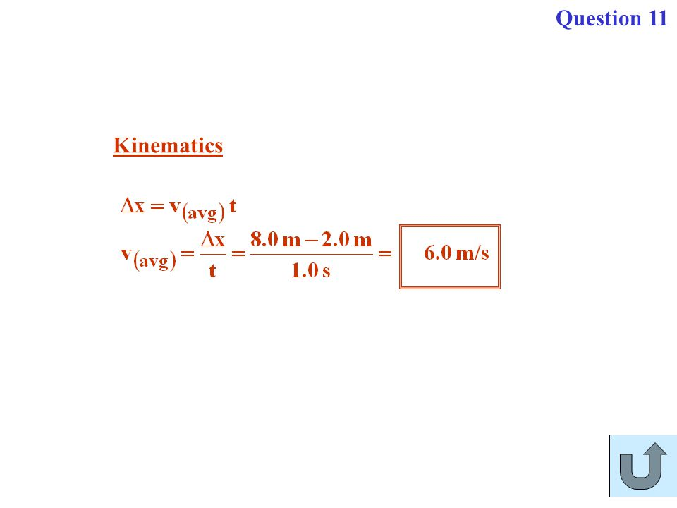 Question 11 Kinematics