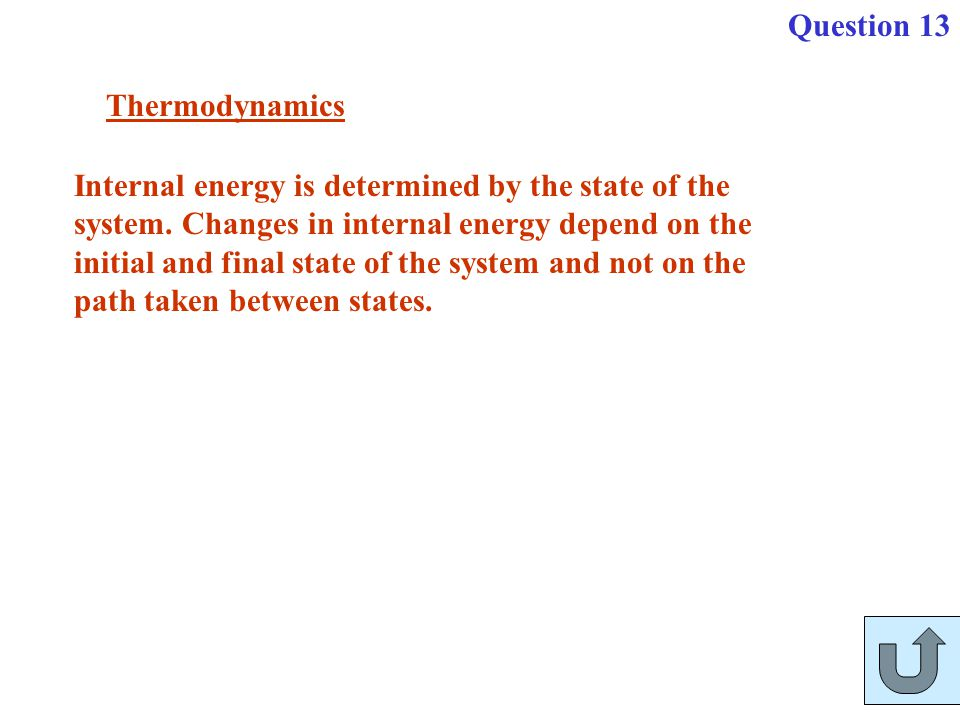 Question 13 Thermodynamics.