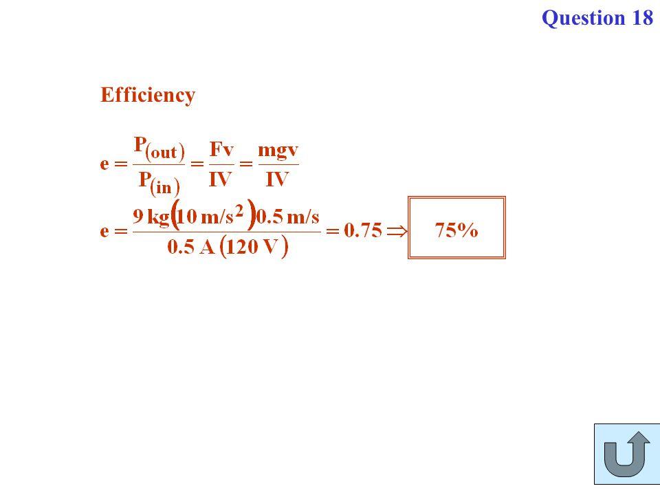 Question 18 Efficiency