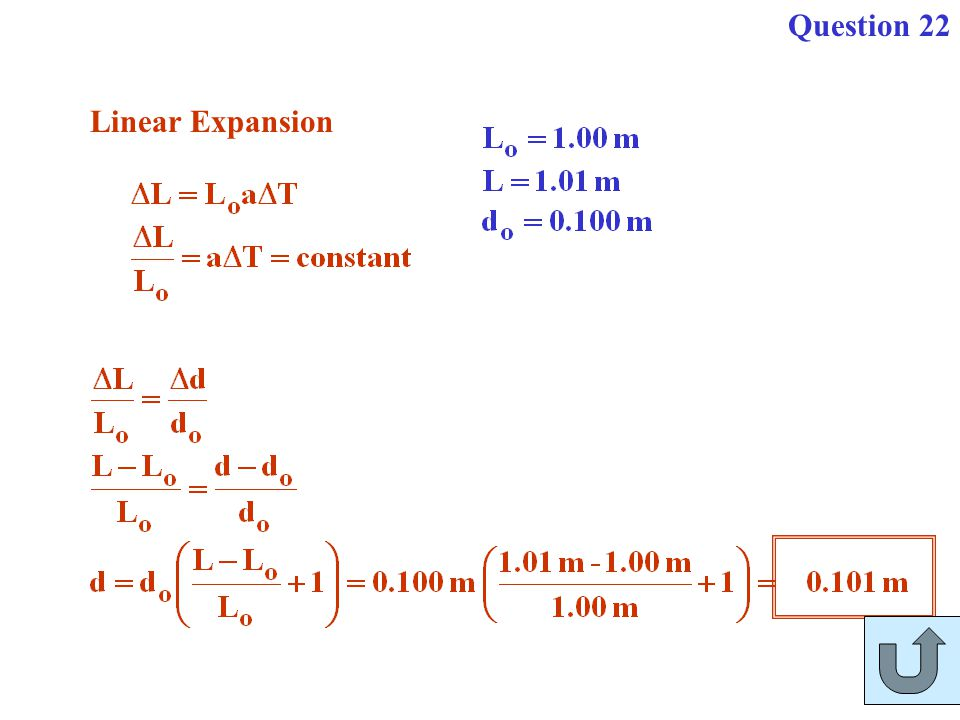 Question 22 Linear Expansion