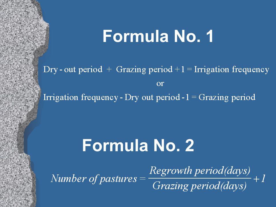 Formula No. 1 Formula No. 2