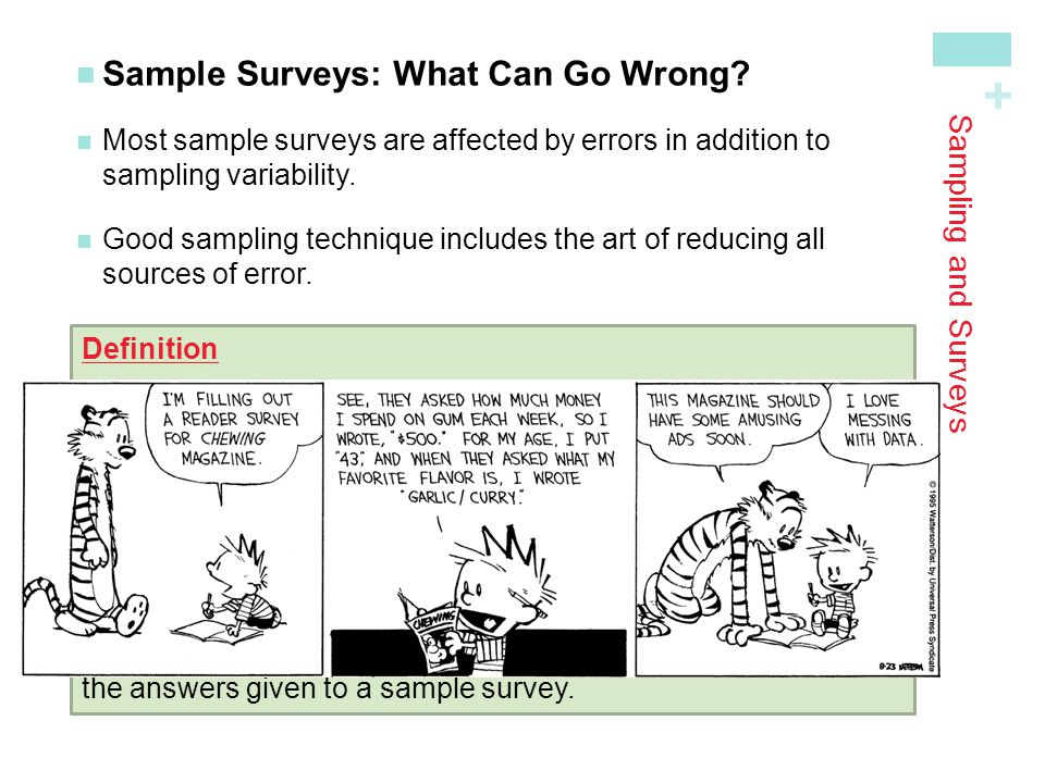 Sample Surveys: What Can Go Wrong