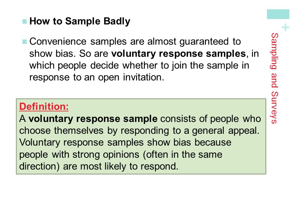 How to Sample Badly