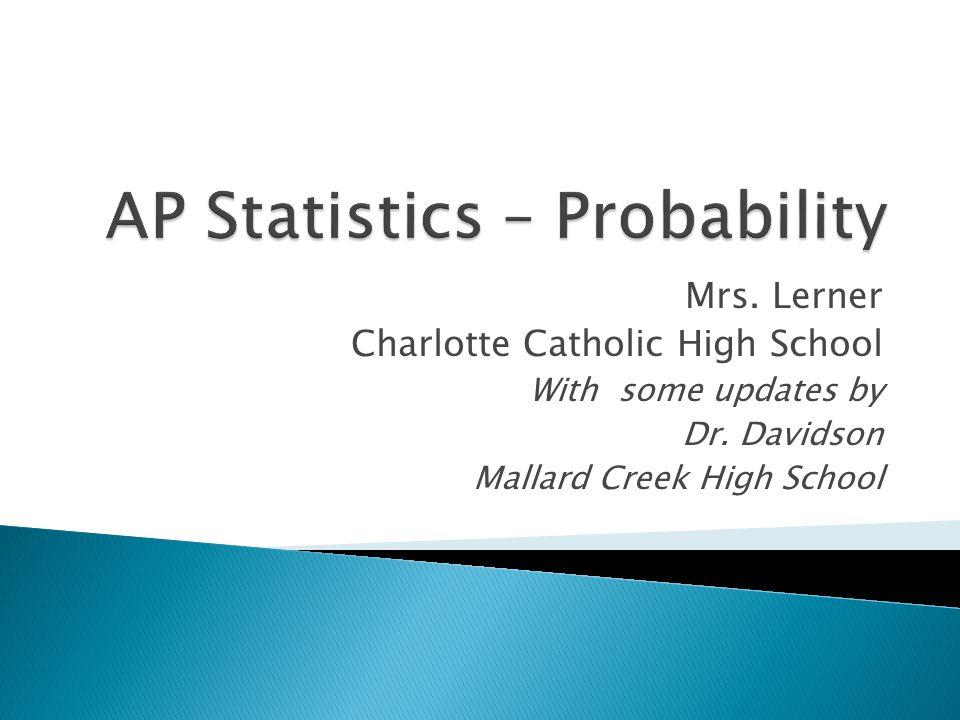 AP Statistics – Probability