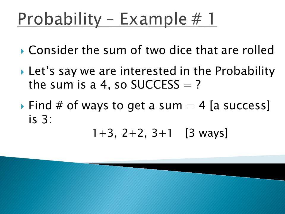 Probability – Example # 1
