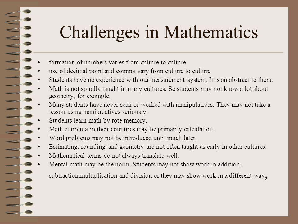 Challenges in Mathematics